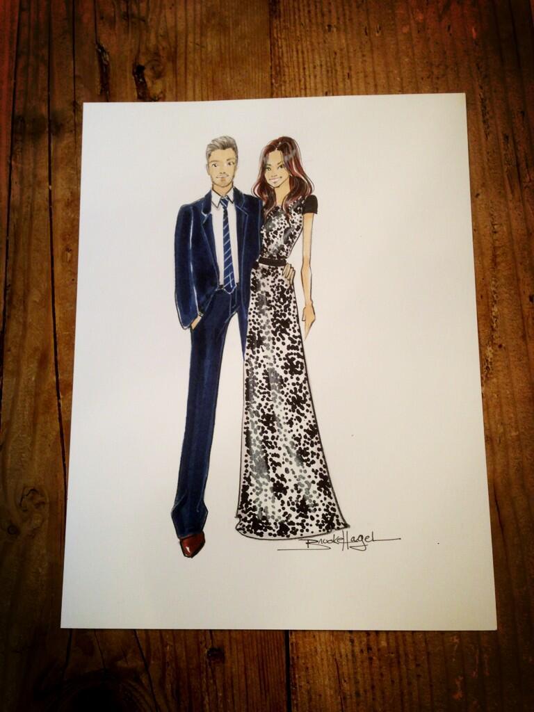 tahle fotka je z twiteru,má to být Odette a Dave Annable,namaloval to nějaký fanoušek