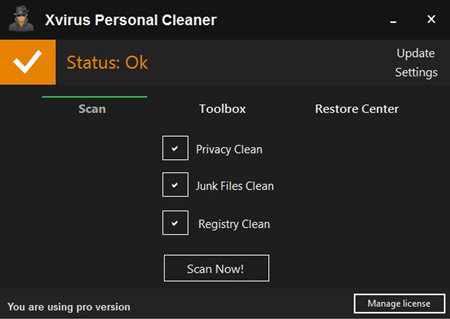 Xvirus Personal Cleaner Pro 3.0.1.0