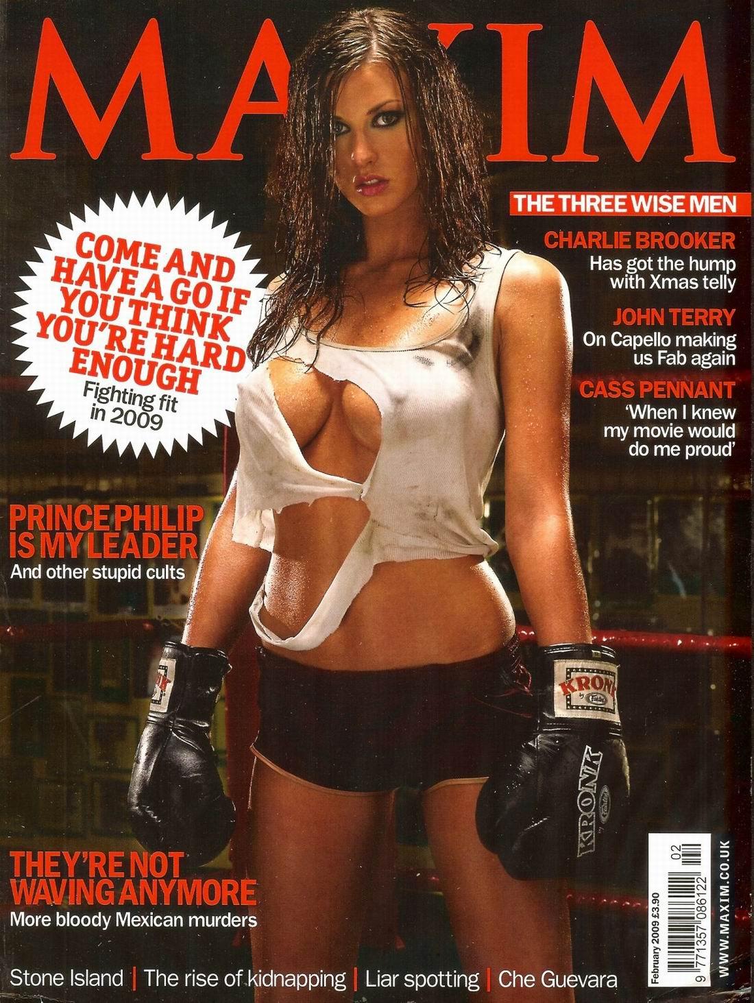Элис Гудвин (Alice Goodwin) и Бьянка Найт (Bianca Knight) голые, фото в журнале Maxim, февраль 2009