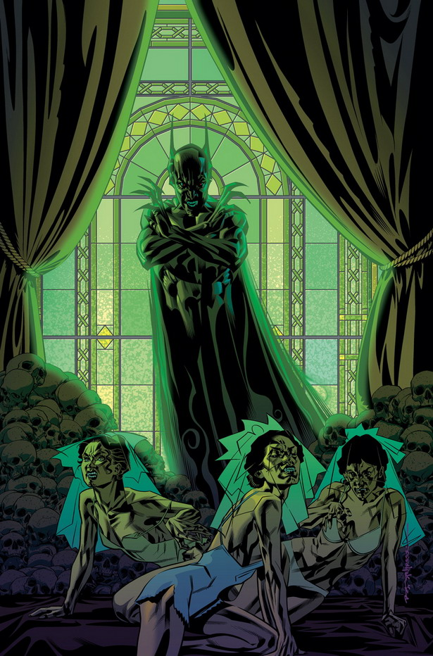 Bruce mas señor de la noche que nunca en la portada de BATMAN nº35 por Brian Stelfreeze