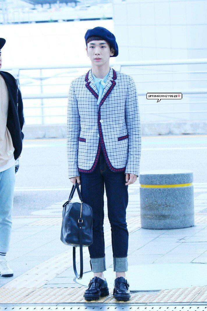[IMG/160715] Jonghyun, Key @ Aeropuerto Incheon hacia Japón. ZjHE5To7