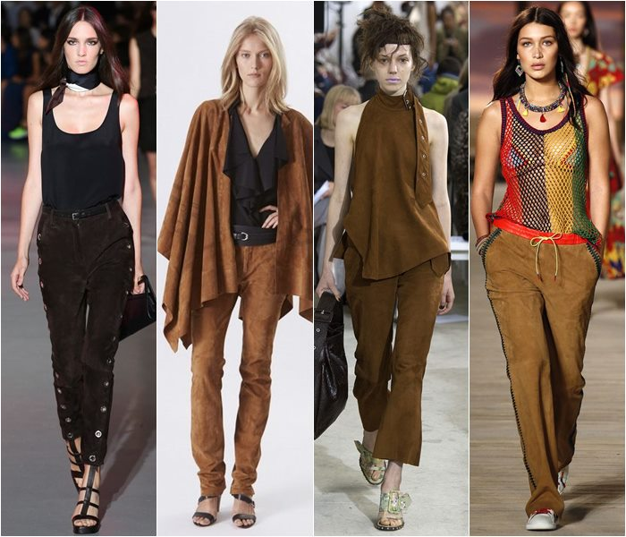 Suede pants spring/summer 2016 1
