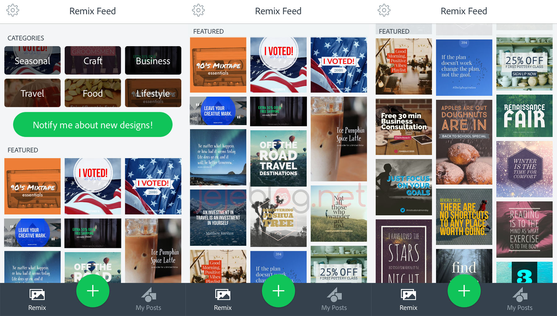 review aplikasi adobe spark post