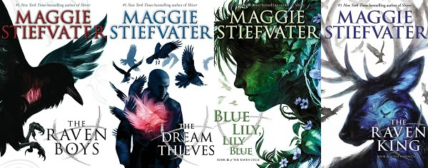 The Raven Cycle series by Maggie Stiefvater book covers