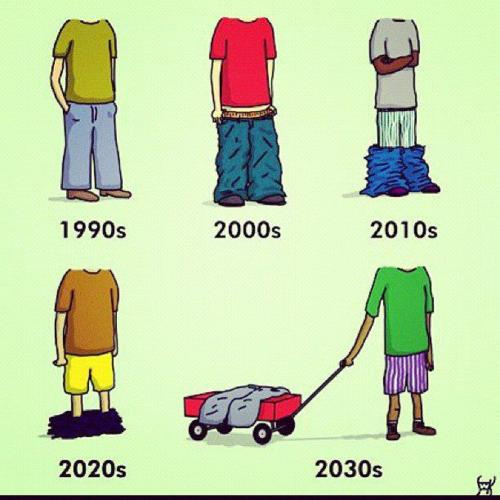 Jóvenes y adultos intercambian vestimenta