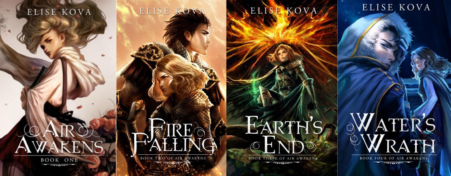Air Awakens series by Elise Kova book covers