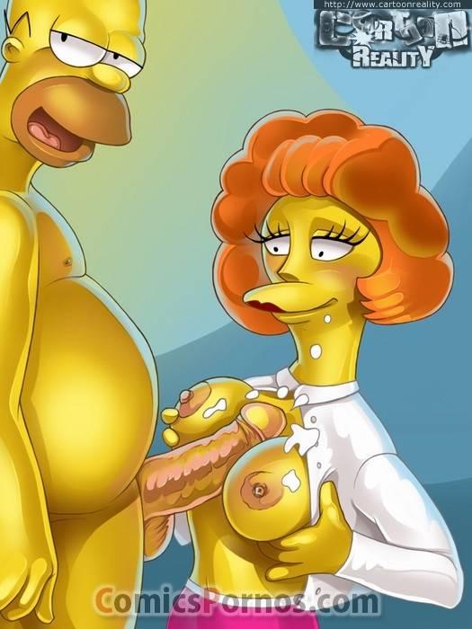 Maude Flanders porno homer simpson