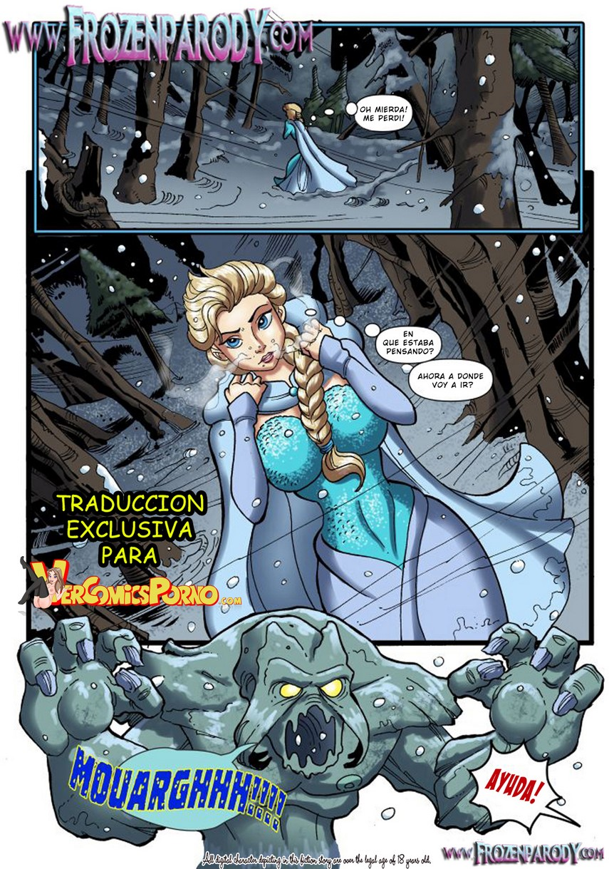 Elsa porno en una parodia disney