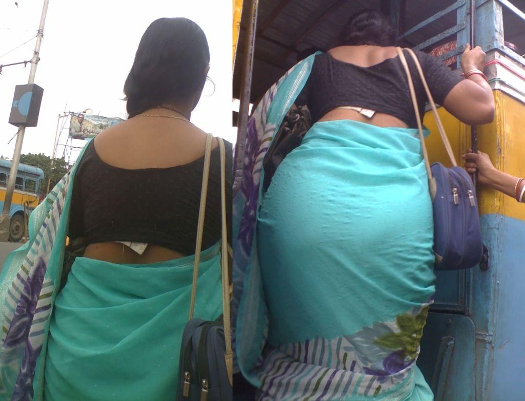 Blouse Back Aunty Exbii 21