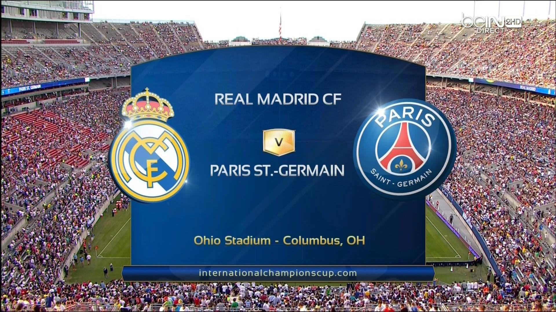 FUTBOL: ICC - Real Madrid vs. Paris Saint-Germain - 27/07/20