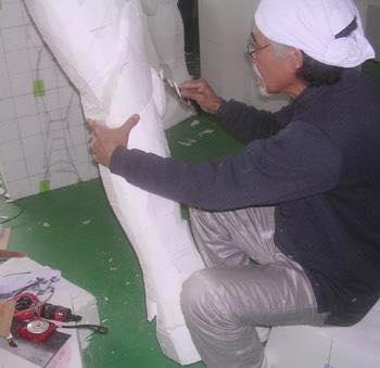 Processo de criação da Armadura de Gemeos para a exibição de Pachinko EAjWdFCs