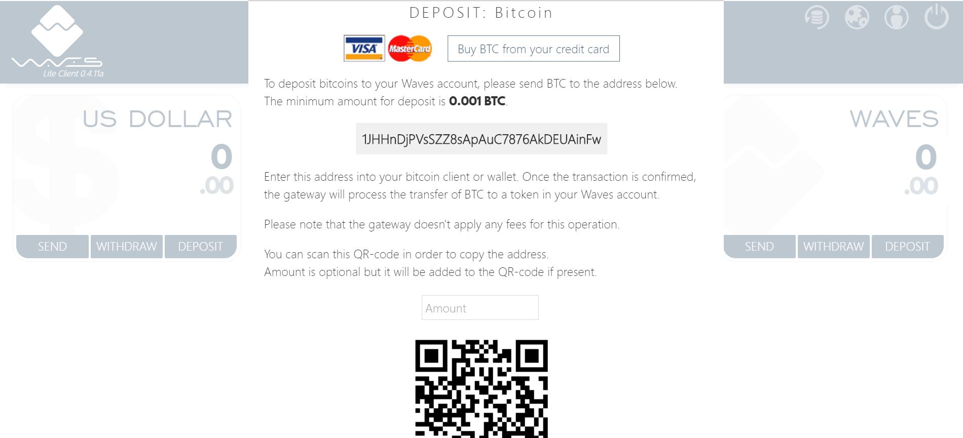 区块链平台Waves添加了信用卡网关 可以在钱包内直接购买比特币 (2)