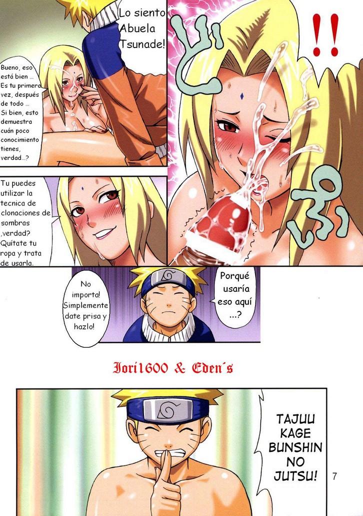 Tsunade Entrena A Naruto