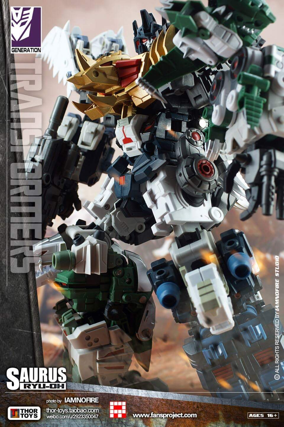 [FansProject] Produit Tiers - Jouet Saurus Ryu-oh aka Dinoking (Victory) | Monstructor (USA) - Page 2 WCglFBp0