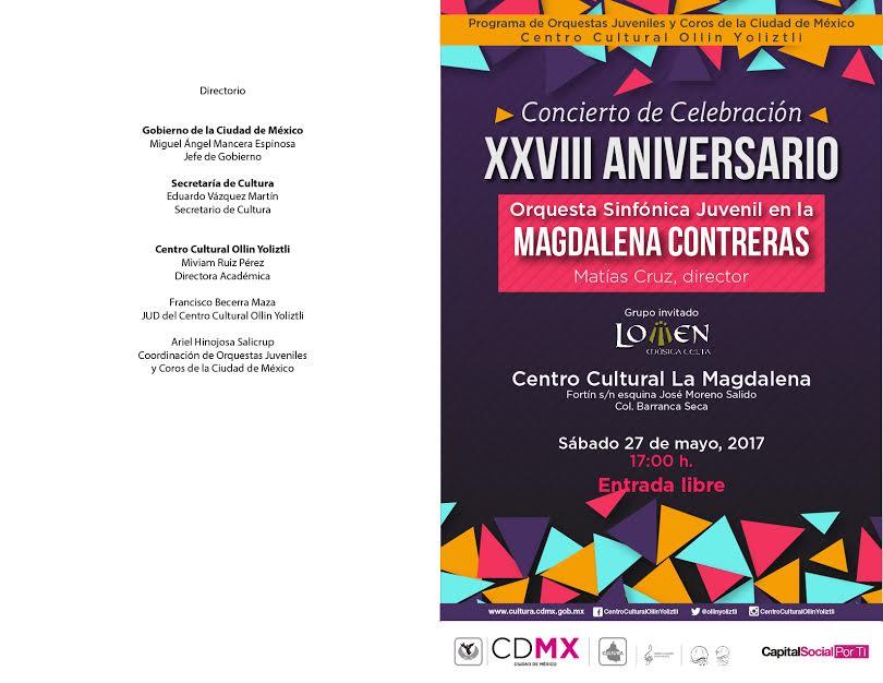 La Orquesta Sinfónica Juvenil en la Magdalena Contreras celebr