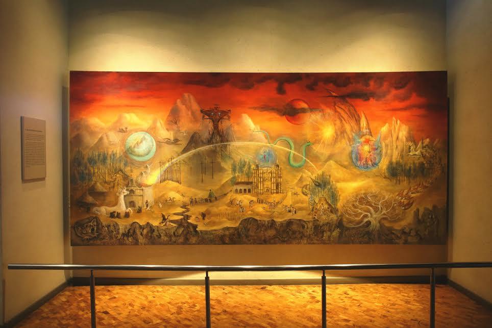 Restauran murales emblemáticos del Museo Nacional de Antropolog&