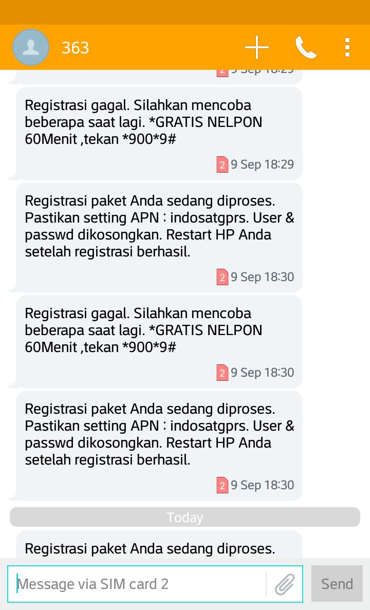 Penyesatan Paket Internet Indosat Ooredoo Kaskus Freedom Combo M