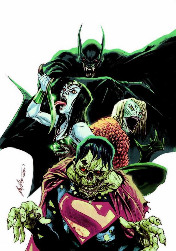 Vampiros, monstruos marinos y zombis para JUSTICE LEAGUE nº35 por rafael Albuquerque