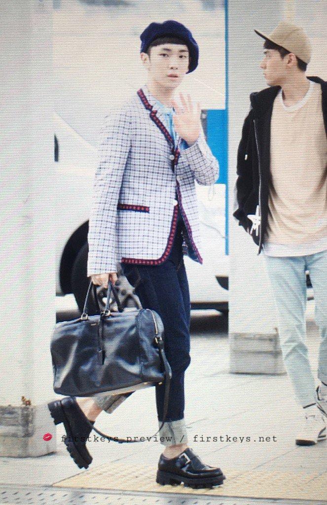 [IMG/160715] Jonghyun, Key @ Aeropuerto Incheon hacia Japón. Z9jF0wje