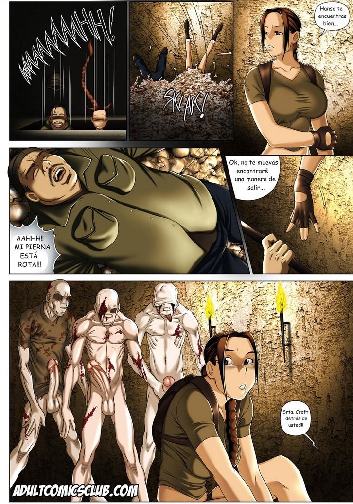 Порно с ларой крофт комикс
