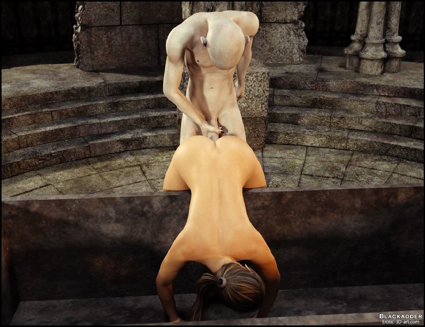 Lara croft raped by a vampire in  sex scene