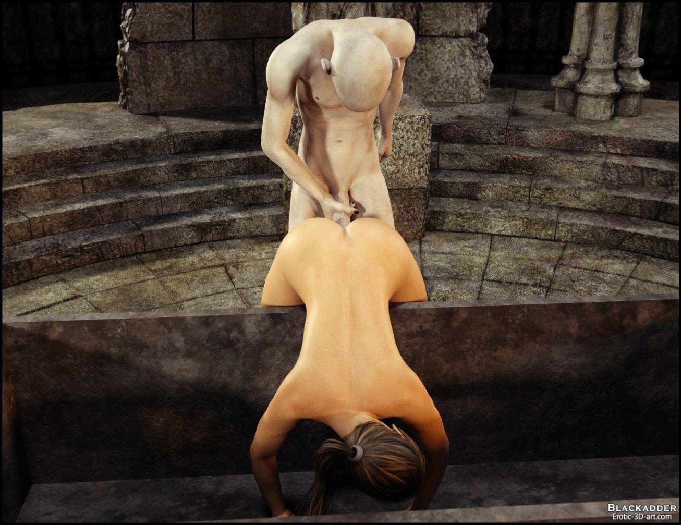 Lara croft raped by a vampire in  sex scene
