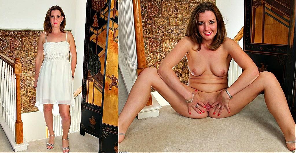 Chicas adolescentes vestidas desnudas