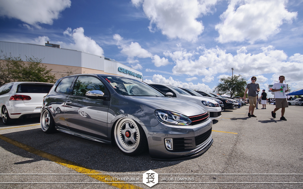 air bagged united grey vw gti