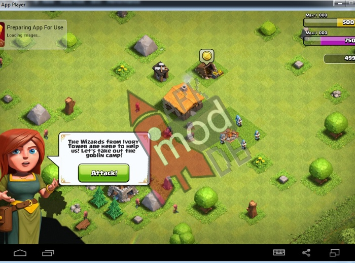 clash of clans bluestacks gameplay