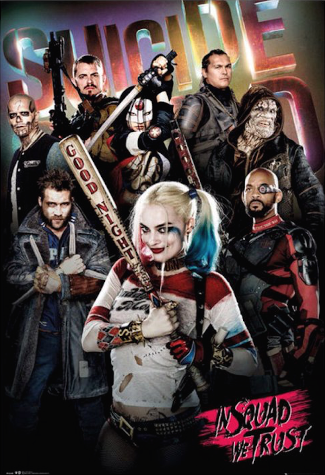 deadshot the joker and harley quinn get their own suicide squad posters. Black Bedroom Furniture Sets. Home Design Ideas