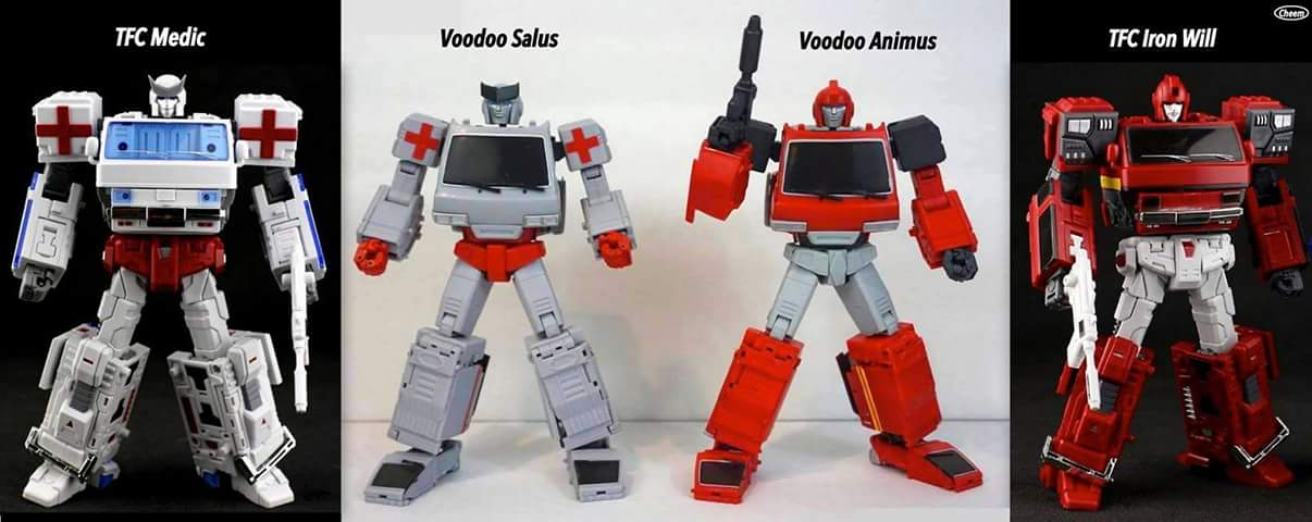 [Voodoo Robots] Produit Tiers - Salus (aka Ratchet/Mécano) & Animus (aka Ironhide/Rhino) KZp67tcH