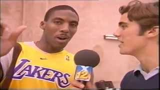 Entrevista a Eddie Jones de Los Ángeles Lakers -1999