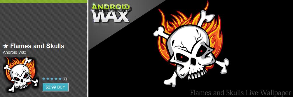 flames and skulls live wallpaper apk