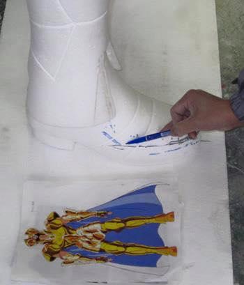 Processo de criação da Armadura de Gemeos para a exibição de Pachinko MpT56EvR