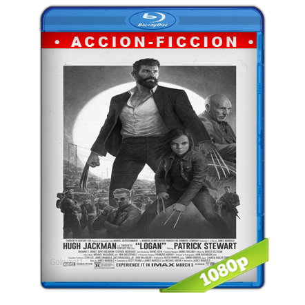 Logan Wolverine Noir (2017) BRRip Full 1080p Audio Trial Latino-Castellano-Ingles 5.1