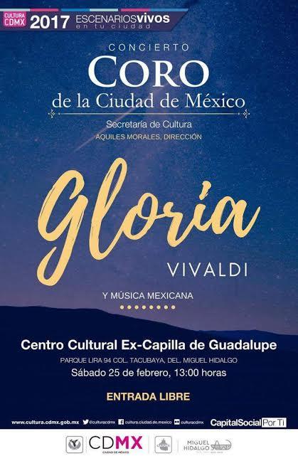El Coro de la Ciudad de México interpretará Gloria, de Vi