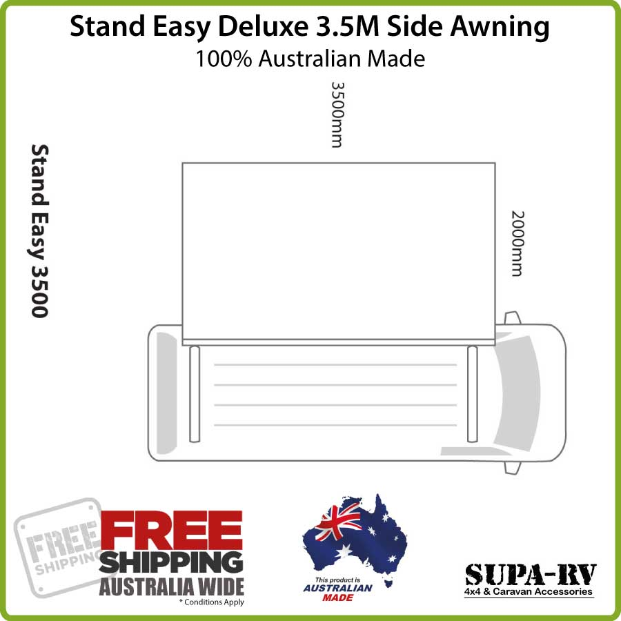 35M Stand Easy Deluxe Side Awning