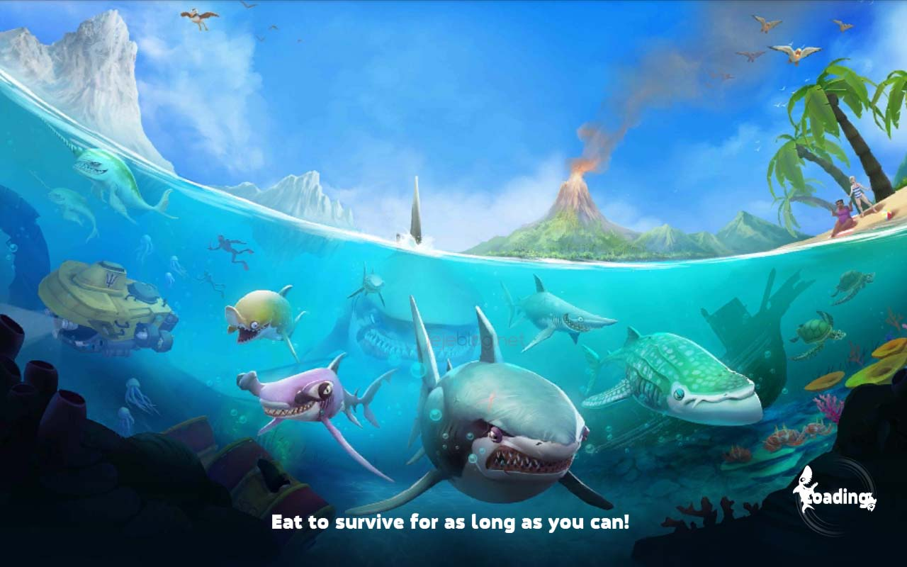 review game hungry shark world