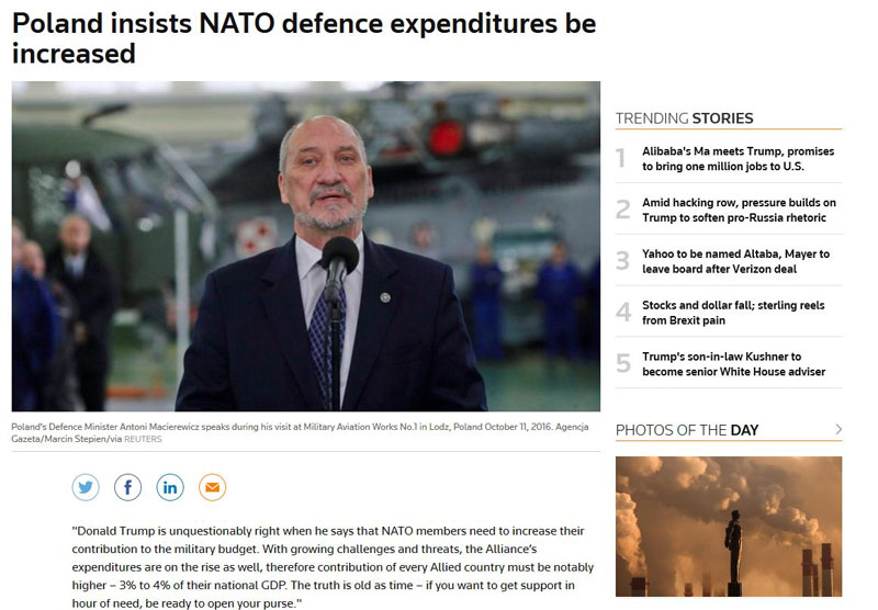 Блог пользователя  netrepkod: Выполнив требования Трампа, Польша возглавит европейских членов НАТО