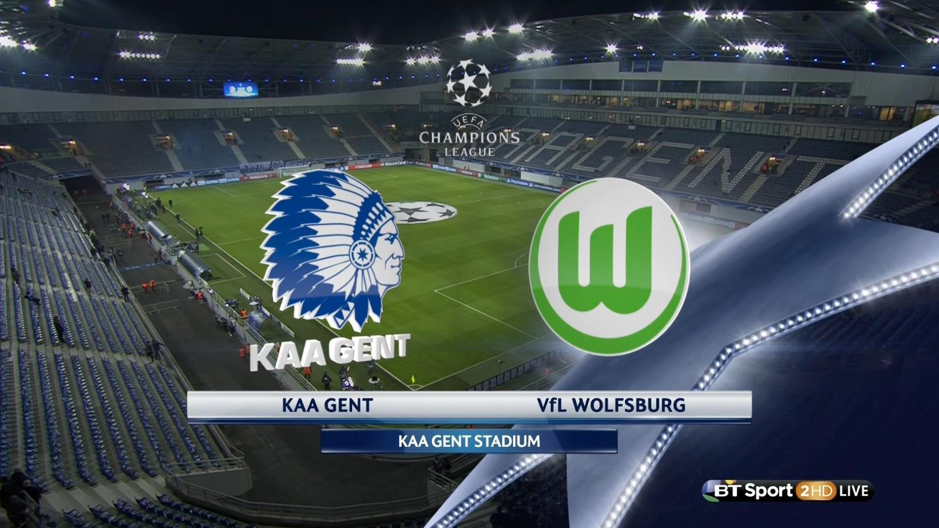 Futbol Ucl 201516 R16 1st Leg Kaa Gent V Vfl Wolfsburg