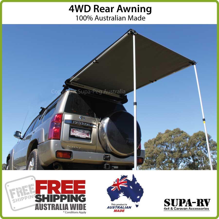 REAR AWNING 4X4 CAR 4WD SUPA PEG