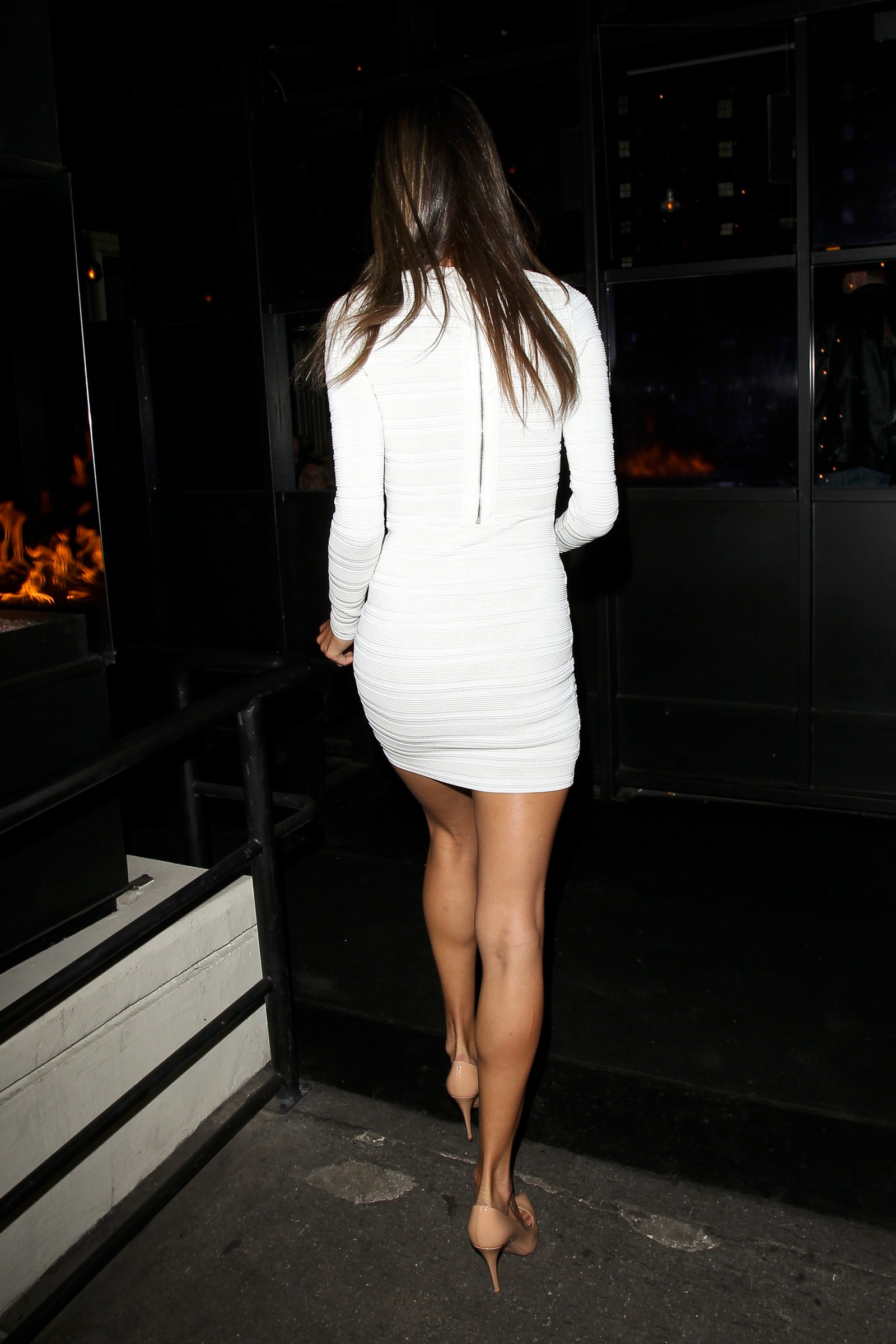 Alessandra Ambrosio Spotted in White Dress in West Hollywood @her B'day AbneYIYQ