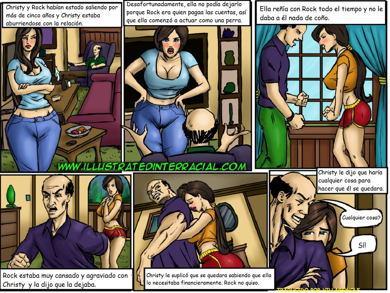 Interracial sex comics