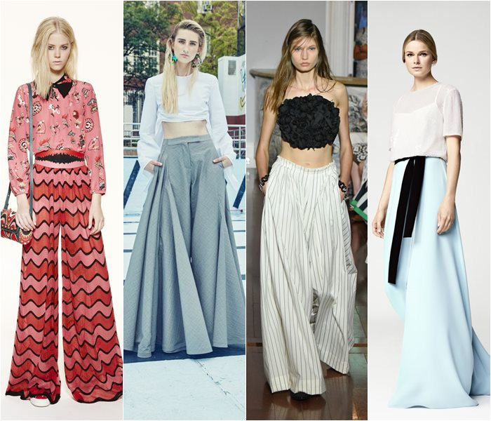 Wide palazzo pants spring/summer 2016