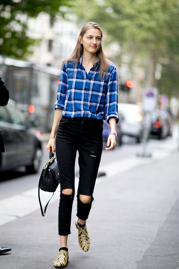 skinny jeans street style 2016-2017 pic 1