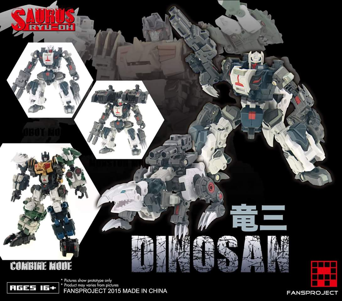 [FansProject] Produit Tiers - Jouet Saurus Ryu-oh aka Dinoking (Victory) | Monstructor (USA) PlviD4KN