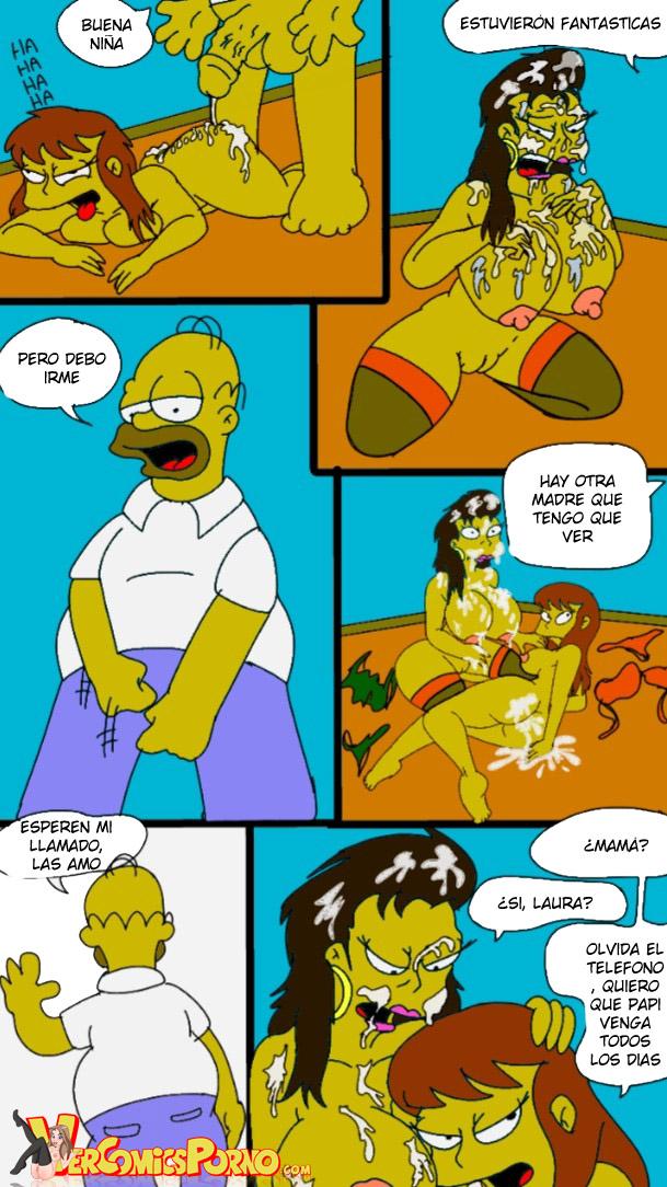 Homer Simpson porno haciendo sexo sin Marge