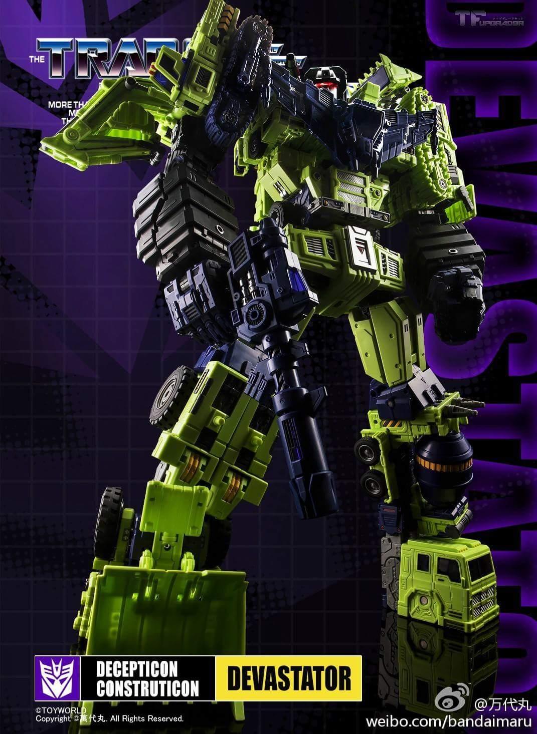 [Toyworld] Produit Tiers - Jouet TW-C Constructor aka Devastator/Dévastateur (Version vert G1 et jaune G2) - Page 9 FjnU3TLY