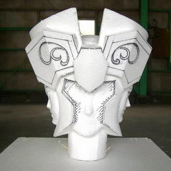 Processo de criação da Armadura de Gemeos para a exibição de Pachinko YO5FJyn3