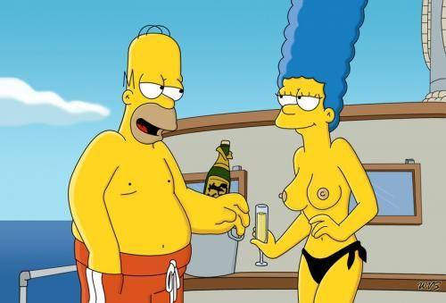Marge Simpson en topless